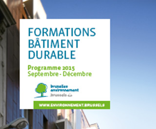 "Organising the ""Formations Batiment Durable"" training courses in 2014, 2015 and 2016"